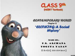 CLASS 9 th (NCERT Textbook)