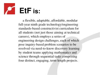 EtF  is:
