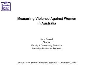 Measuring Violence Against Women in Australia