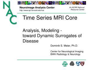 Time Series MRI Core Analysis, Modeling - toward Dynamic Surrogates of Disease
