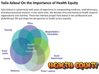 Yulia Azkoul On the Importance of Health Equity