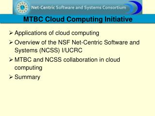MTBC Cloud Computing Initiative