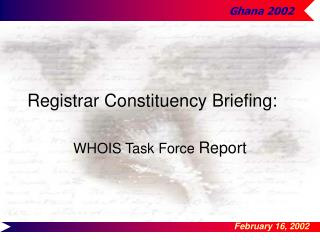 Registrar Constituency Briefing: