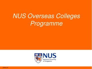 NUS Overseas Colleges Programme