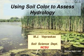 Using Soil Color to Assess Hydrology