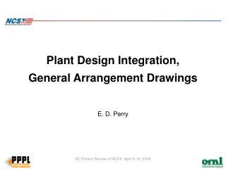 Plant Design Integration,  General Arrangement Drawings