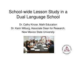 School-wide Lesson Study in a Dual Language School