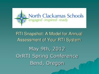 RTI Snapshot: A Model for Annual Assessment of Your RTI System