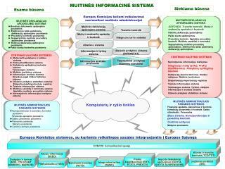Europos Komisijos sistemos, su kuriomis reikalingos sąsajos integruojantis į Europos Sąjungą