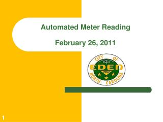 Automated Meter Reading February 26, 2011