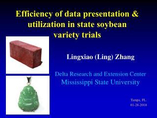 Efficiency of data presentation & utilization in state soybean variety trials