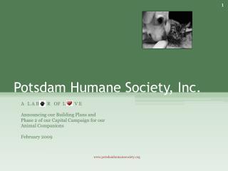 Potsdam Humane Society, Inc.