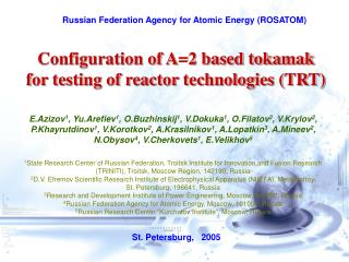 Russian Federation Agency for Atomic Energy (ROSATOM)