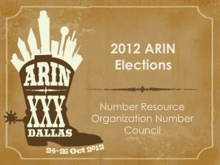 2012 ARIN Elections