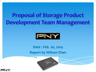 Proposal of Storage Product  Development Team Management