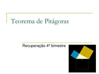Teorema de Pit�goras