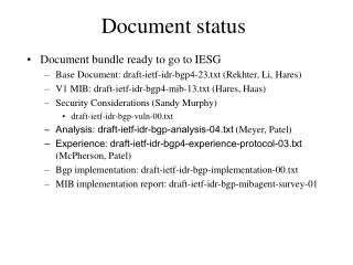 Document status