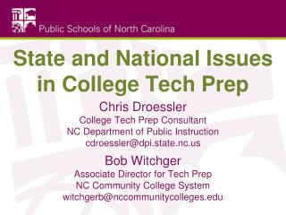 State and National Issues in College Tech Prep