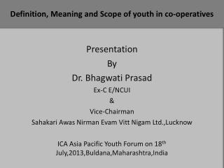 Definition, Meaning and Scope of youth in co-operatives