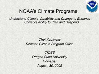 NOAA's Climate Programs