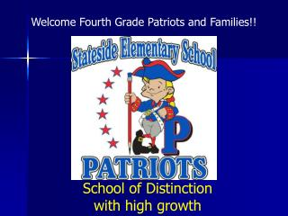 School of Distinction with high growth