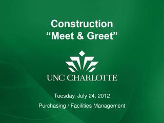 """Construction  """"Meet & Greet"""""""