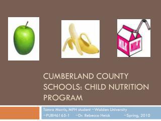Cumberland county schools: child nutrition program