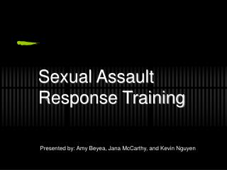 Sexual Assault  Response Training
