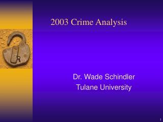 2003 Crime Analysis
