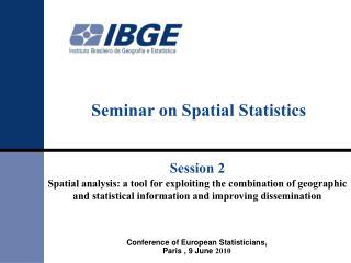 Seminar on Spatial Statistics
