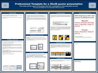 Professional Template for a 36x48 poster presentation