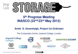 5 th  Progress Meeting INASCO (22 nd /23 rd  May 2012)