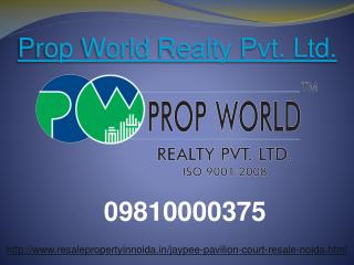 Jaypee Pavilion Court Resale Price 09810000375 Sector 128 No