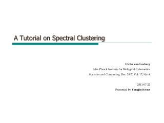 A Tutorial on Spectral Clustering