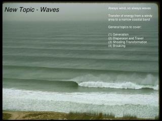 New Topic - Waves