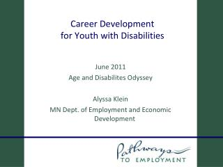 Career Development  for Youth with Disabilities