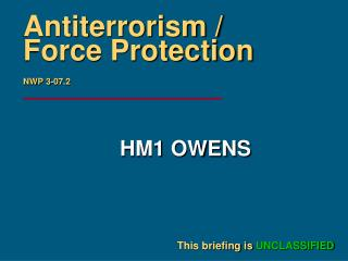Antiterrorism / Force Protection NWP 3-07.2