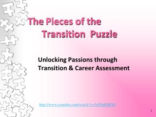 The  Pieces of the       Transition  Puzzle