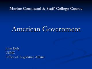 Marine Command & Staff College Course