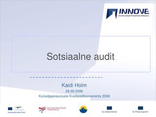 Sotsiaalne audit