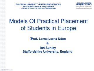 Models Of Practical Placement of Students in Europe