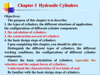 Chapter 3  Hydraulic Cylinders