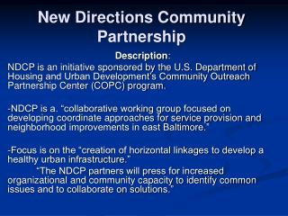 New Directions Community Partnership