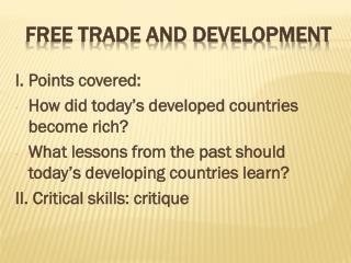 Free trade and development