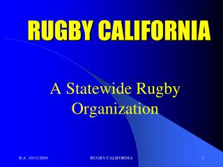 RUGBY CALIFORNIA