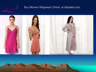 Buy women nihgtwear, lady nihgtwear, online shopping at fabs