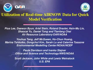 Utilization of Real-time AIRNOW Data for Quick Model Verification