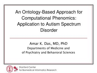 An Ontology-Based Approach for Computational Phenomics: Application to Autism Spectrum Disorder