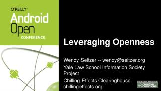 Leveraging Openness