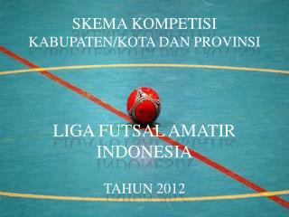 SKEMA KOMPETISI  KABUPATEN/KOTA DAN PROVINSI LIGA FUTSAL AMATIR INDONESIA TAHUN 2012